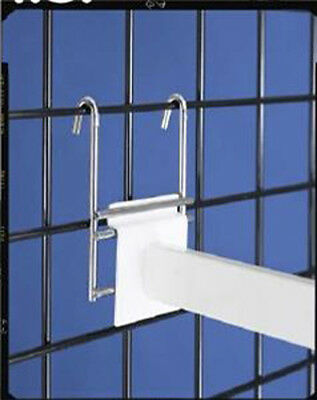 Slatwall - Grid Gridwall Adapter Retail Store Display Chrome 1 To 9 New