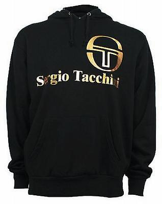 Sergio Tacchini Men's Classic Hooded Hoodie Hoody Sweatshirt Top black/gold 1806