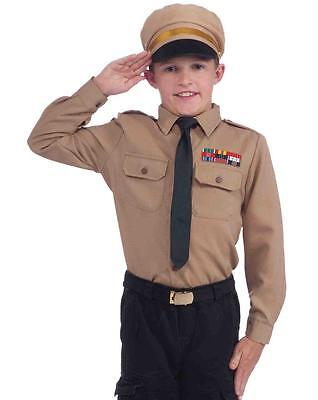 Instant Army Kit Military Officer Soldier Fancy Dress Up Halloween Child Costume (Kids Army Kit)