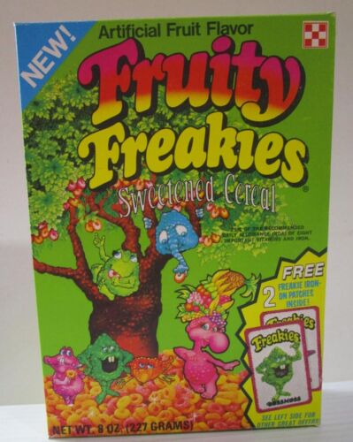 1975 New Fruity Freakies Cereal Box Ralston REPRODUCTION