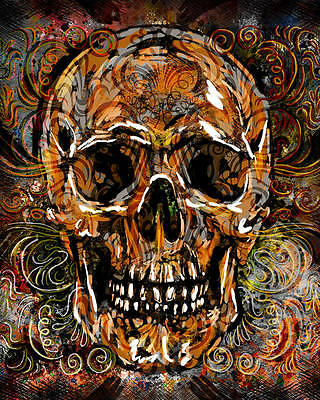 Dead Canvas (Skull Art Print, Sugar Skull Canvas, Day of the Dead)