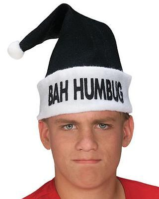 Bah Humbug Hat Black Santa Christmas Carol Holiday Fancy Dress Costume Accessory