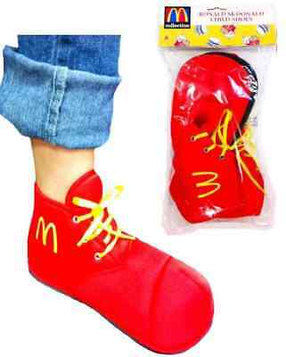 Ronald McDonald Shoes Red Clown Fancy Dress Up Halloween Child Costume Accessory - Girl Clown Shoes