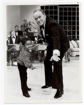 """BOB HOPE & EMMANUEL LEWIS """"WEBSTER"""" 1985 VINTAGE ORIG PHOTO TV Special"""