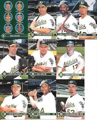 OAKLAND A'S 2003 A'S PLUMBERS UNION STADIUM GIVEAWAY COMPLETE (28) CARD SET