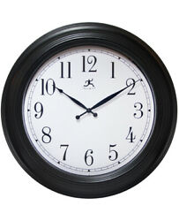 Infinity Instruments Classic Black 24 inch Large Decorative Wall Clock
