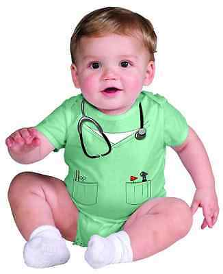 Doctor Outfit Scrubs Surgeon Fancy Dress Up Baby's 1st Halloween Child Costume - Baby Halloween Fancy Dress Outfits