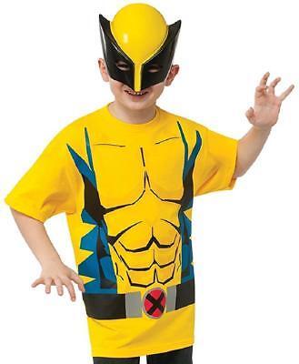 Wolverine Shirt Mask Marvel Superhero X-Men Fancy Dress Halloween Child Costume](Wolverine Halloween Costume Kids)