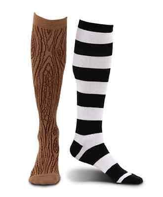 Peg Leg Halloween Costume (Pirate Peg Leg Socks Caribbean Buccaneer Fancy Dress Halloween Costume)