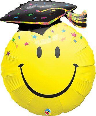 Folienballon Graduation Abitur Prüfung Happy Face, ca. 91 cm