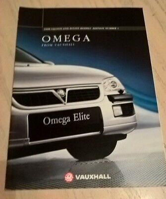 Vauxhall Omega Car Product Catalogue Brochure 1998   Book  Booklet