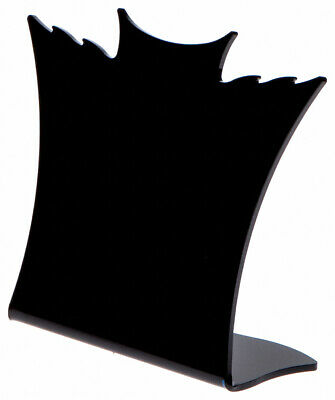 Plymor Black Acrylic Winged Necklace Display Stand 8.5 W X 3 D X 7.25 H