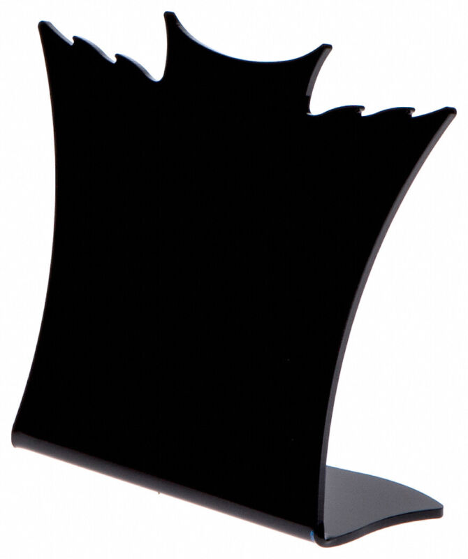 """Plymor Black Acrylic Winged Necklace Display Stand, 8.5"""" W x 3"""" D x 7.25"""" H"""