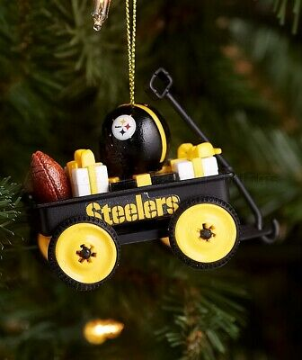 Pittsburgh Steelers NFL Wagon Christmas Tree Ornament Football Team Gift Decor ()