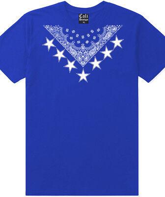 Urban T-shirt Designs - Star Blue Bandana T shirt Designer urban Street Wear Hipster Rapper Crew Tee