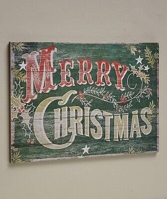 Pallet Sign Merry Christmas Pine Vintage Rustic Wall Art Holiday Home Decor - Merry Sign