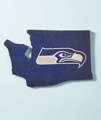 - Seattle Seahawks NFL State Pride Wall Art Football Team Man Cave Den Home Decor