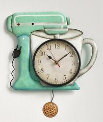 Mixer Retro Metal Pendulum Wall Clock Vintage Look Wall Art Kitchen Home Decor