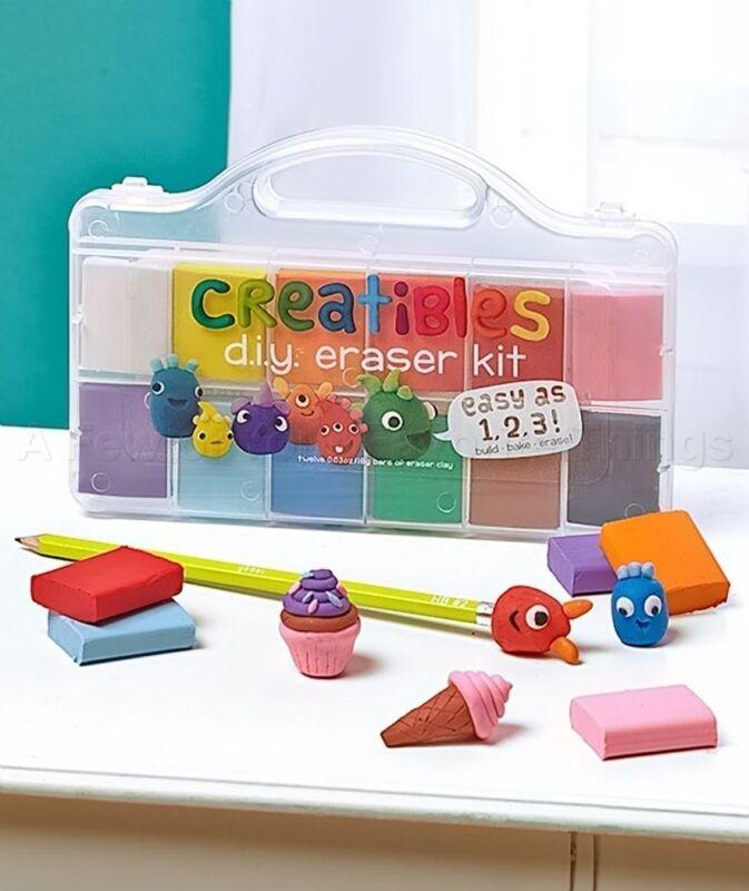Creatibles DIY Erasers Craft Kit Award-Winning Art Set Rainy Day Fun OOLY