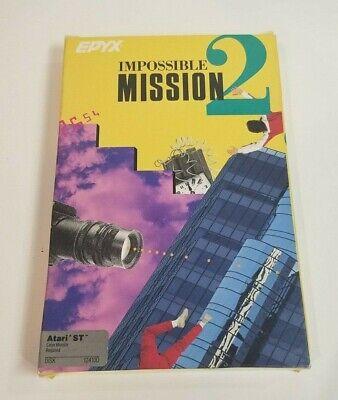 Atari Impossible Mission 2 1040 ST Vintage Computer Game Disk + Box + Manual