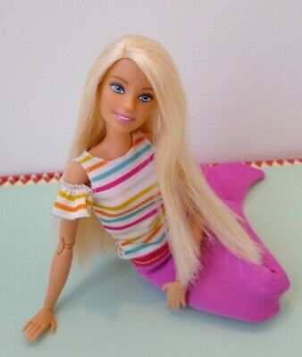 Barbie Made to Move Blonde Hair Doll Custom Mermaid Oak UK