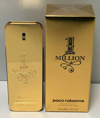Paco Rabanne 1 Million Eau De Toilette 3.4oz / 100ml For Men New