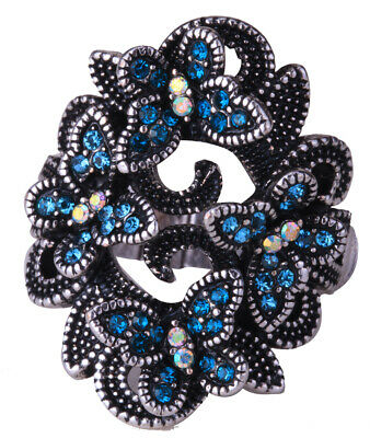 Women Butterfly Stretch Ring Fit Finger Size 7 to 9 Scarf Holder Jewelryfor Her Butterfly Ring Holder