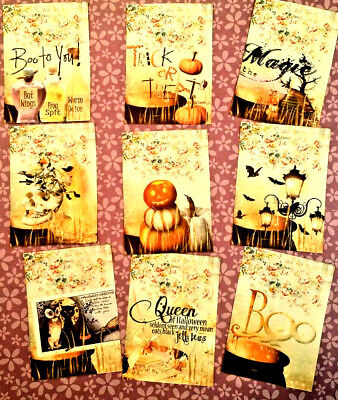 9 Halloween Magic~Pocket Pen Pal No Protector~Scrapbooking~Card Making Crafts