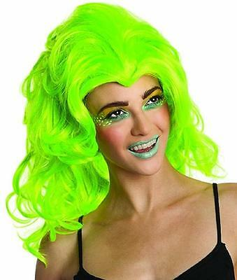 New Wave Wig 80's Neon Retro Fancy Dress Halloween Costume Accessory 4 (New Wave Halloween)