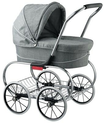 Valco Baby Classic Bassinet Doll Stroller Pram Kids Play Grey Marle NEW for sale  Whittier