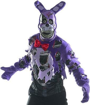 Nightmare Halloween Bonnie (Nightmare Bonnie Five Nights Freddy's Fancy Dress Halloween Deluxe Adult)