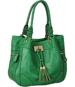 Kelly Green Genevieve Large/Big Tote Designer:Melie Bianco