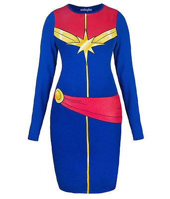 I Am Captain Marvel Body Con Dress