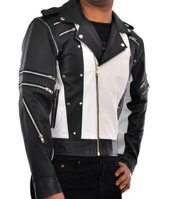 Men's Michael Jackson Pepsi Jacket | Brando Classic Motorcycle PU Leather Jacket](Michael Jackson Leather Jacket)