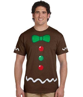 Gingerbread Man Costume Adult T-Shirt](Gingerbread Man Costume Adult)