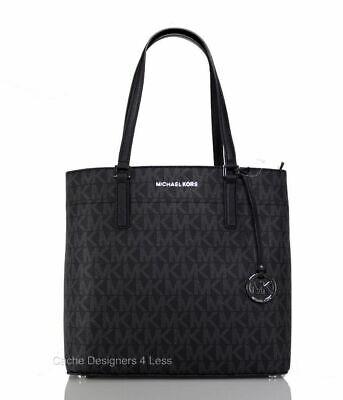New Michael Kors Morgan Signature Medium Black Tote Bag Handbags
