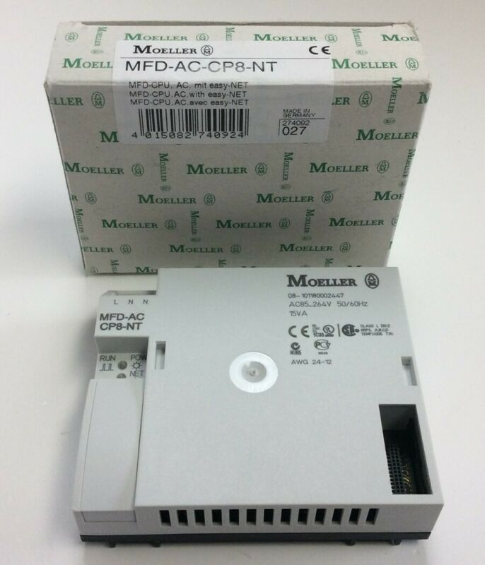 Eaton Moeller MFD-AC-CP8-NT Control Module/CPU Power Supply 100 to 240 VAC