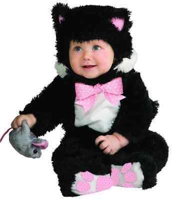 Inky Black Kitty Cat Animal Fancy Dress Up Halloween Baby Toddler Child Costume](Ups Guy Toddler Halloween Costume)