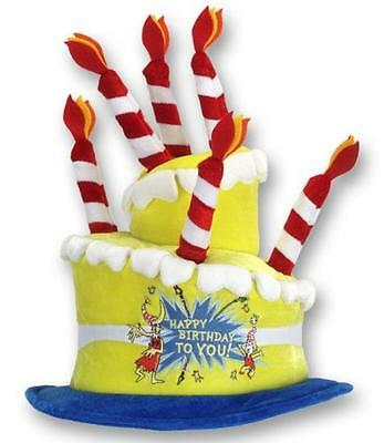 Happy Birthday Cake Hat Dr. Seuss Fancy Dress Halloween Adult Costume Accessory