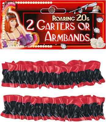 Garter Armbands Flapper Saloon Bartender Halloween Costume Accessory 10 COLORS