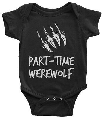 Part-Time Werewolf Infant Bodysuit Scary Horror Fiction Halloween - Scary Halloween Werewolf