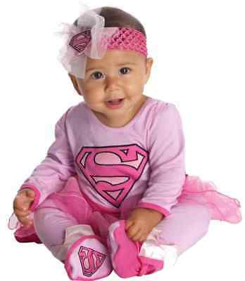 Supergirl Pink Super Friends Superhero Fancy Dress Halloween Baby Child Costume