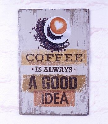 - Retro Rustic Tin Signs Coffee Bar Cafe Decor Metal Poster Artistic Wall Plaque