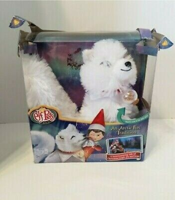 Elf Pets An Arctic Fox Tradition Includes Toy Push Arctic Fox & Book H1