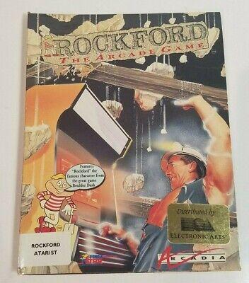 Atari Rockford 1040 ST Vintage Computer Video Game Disk Box Manual