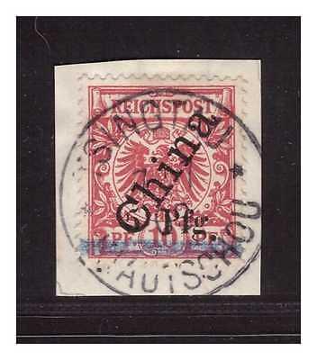 Kiautschou Minr. 1 II ° Tsingtau 7.7.00 TYP 3 b  Luxus Briefstück Befund BPP