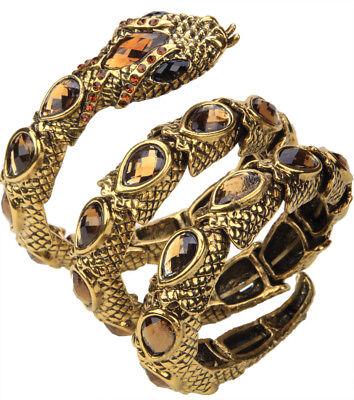 Stretch snake bracelet armlet upper arm cuff jewelry gift women A32 gold silver