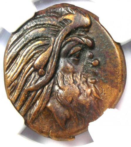 Greece Bosporus AE23 Copper Coin (Pan, Griffen) 300 BC - Certified NGC Choice VF