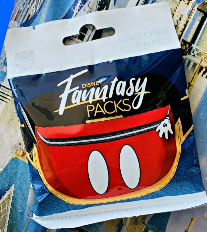 Disney Collectible Pin Pack FANNTASY FANNY PACK Mystery Bag of 5 Pins Sealed NEW