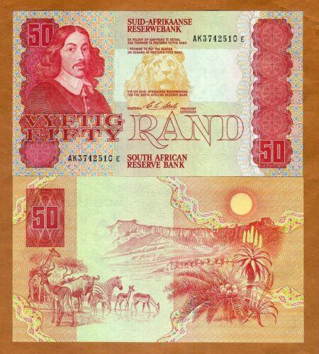 South Africa, 50 Rand ND (1990) P-122b, AK-Prefix UNC > Lion